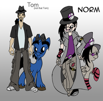 Commission #10b: More Humans! by TommyOliverDraws