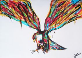 Abstract Bird - Drawing by JakubQaazAdamski