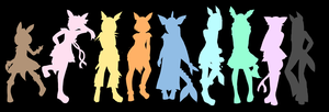 The Nine Silhouettes other version by legendary444