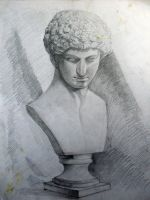 A plaster bust by XDimov