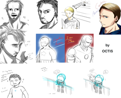 Avengers doodles by OCTISquad