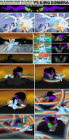 Rainbow Dash VS King Sombra - Evil on the Horizon by UltraTheHedgetoaster