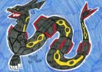 Shiny Rayquaza by FlygonPirate