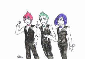 So I draw Striaton Trio AGAIN by Marini4