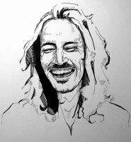 Brandon Boyd - Pen and Marker by Kelley-Michelle