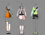 Some Outfit Adopts #11 - sold by Nahemii-san