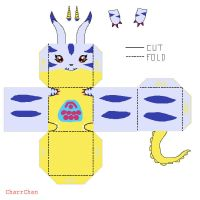 Gabumon Template Papercraft by CharrChan