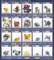 Bunch of Fakemon Sprites 2 by princess-phoenix