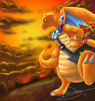 Dragonite, Off to the Horizon by TheKiwiSlayer