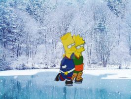 Bart and Lisa Ice Skating. by ChrisSalinas35