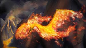 Moltres by Yggdrassal