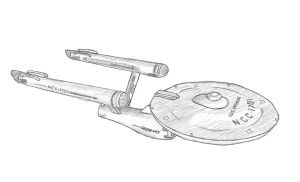 U.S.S. Enterprise - Sketch by KoshiFuruYoru