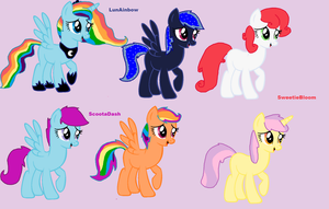 MLP Shipping adopts 4 by Honey-PawStep