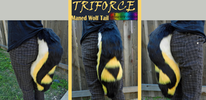 Triforce Maned Wolf Tail by TECHNlCOLOUR