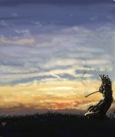 The Sioux Sage at Sunset by jab-brinkli