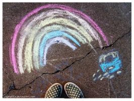 Chalk Rainbow by VegMuffin