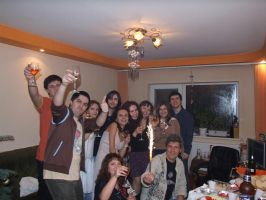 New Year's eve with deviants by ArtAnda