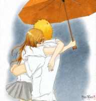 IchiHime - feel me in the rain by FlairMatriX