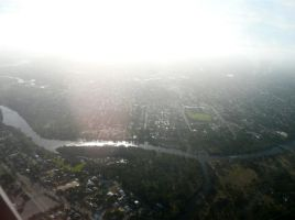 Perth from the sky by Katheriine