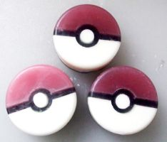 Pokeball Soap by fuzzykittn