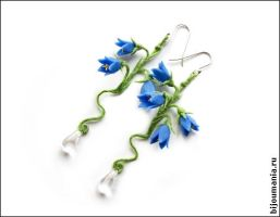 Earrings Blue Bells 1 by allim-lip