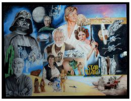 Star Wars A New Hope by kevindoyleart