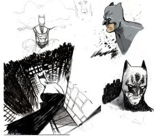 Batman Sketches by JHarren