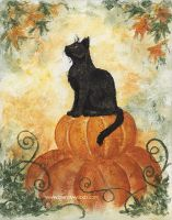 Harvest Kitty by BrandyWoods