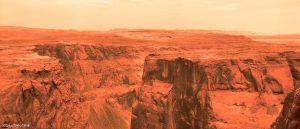 Mars landscape from photo 01 by Ludo38