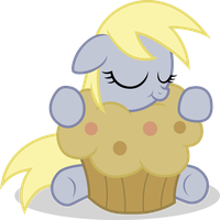 Filly Derpy with a muffin vector by Agamnentzar