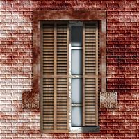 Partly Shuttered Window stock by Urceola
