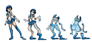 Sailor Mercury Clothing Transformation by Redflare500