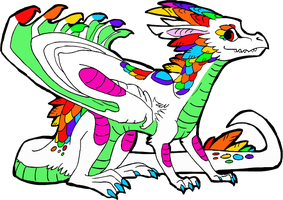 Rainbow Dragon Adopt-CLOSED by Wolfies--Adopts