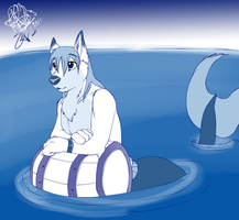 Blue sea .:Gift:. by WolfRoxy