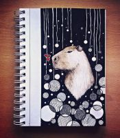 Deep thoughts with capybara by eamanee