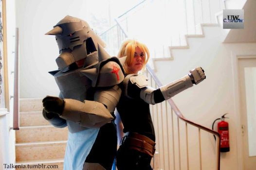 Edward and Alphonse Elric by talkenia