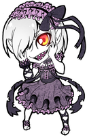 OC Umbra chibi key-chain design (color) by SpavVy