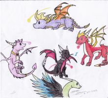 Little simple Spyro dragons 1 by EmeraldRainDragon