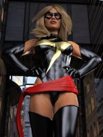 Ms Marvel pose 16 by DahriAlGhul