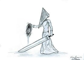 silent hill - pyramid head by bloodypenalper