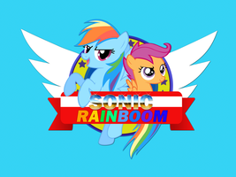 Sonic_Rainboom_RD_and_Scootaloo by KiBoune