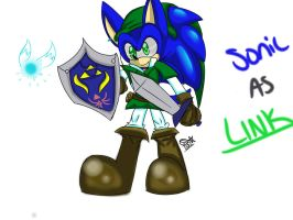 Sonic as Link by SolarSonic3546