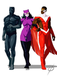 Com Catwoman and the Guys by chou-roninx