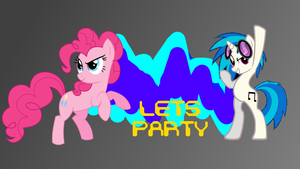 Pinkie Pie and Vinyl Scratch (DJ PON-3) LETS PA... by SammyDaMan