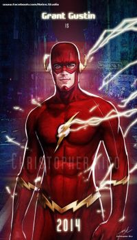 Grant Gustin The Flash 03 By Christopher Nico by OrangeAsgard