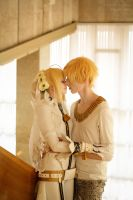 Saber Bride and Gilgamesh by SelenaAdorian