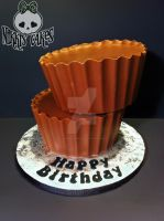 Giant peanutbutter cup cake by Corpse-Queen