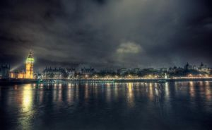 Thames from South Bank by claudiuvoicu