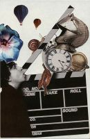 a collage with tim burton by redlizzard
