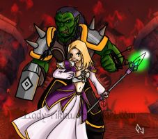 Thrall and Jaina by Lady-Rikku